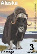 alaska muskox postage stamp