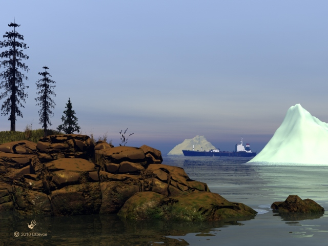 Icerbergs off the Newfie Coast