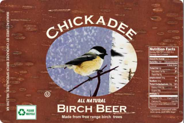 Chickadee Birch Beer Label