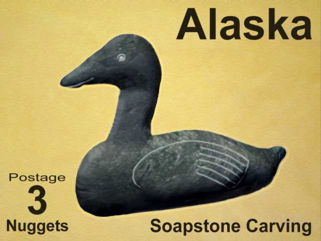 3d rendering of an Eider Duck carved in soapstone
