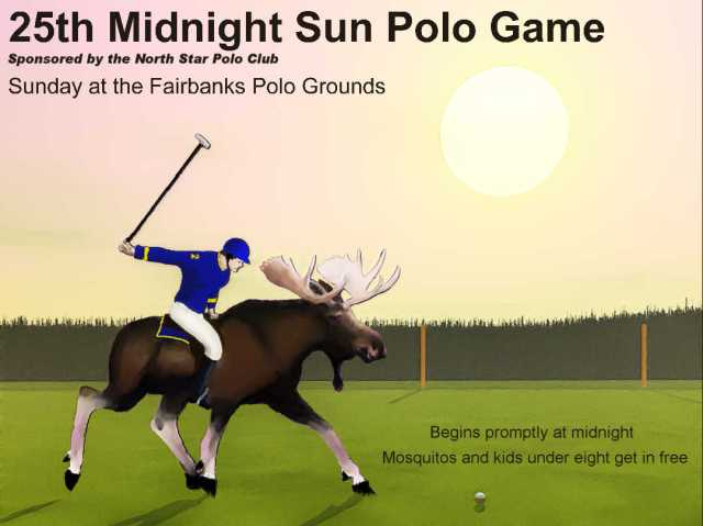 Midnight Sun Polo Poster