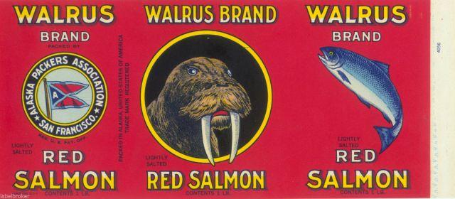 walrus brand canned salmon
