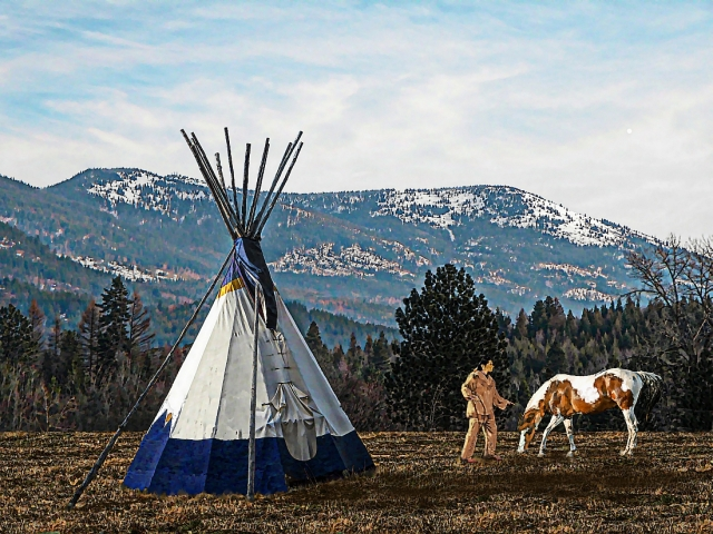 teepee, native american and horse
