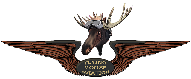 flying moose aviation pilot's wings