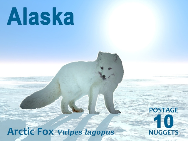 arctic fox stamp