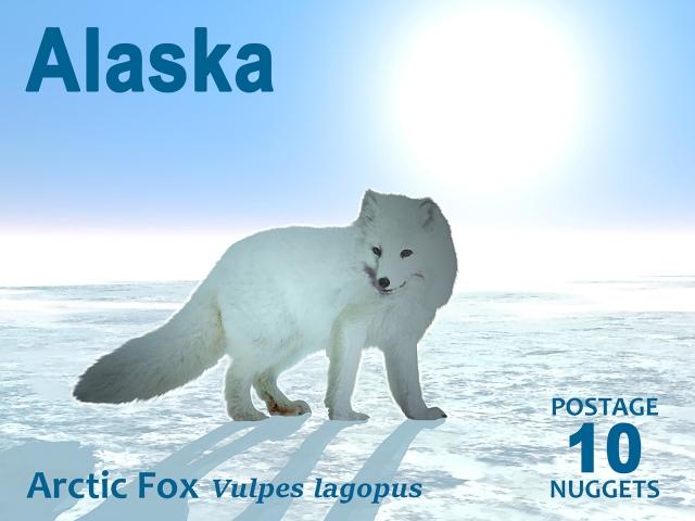 arctic fox stamp