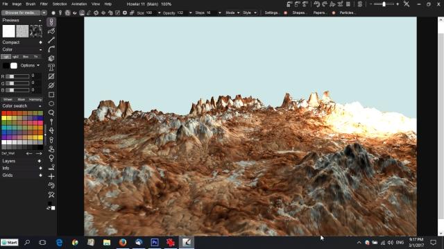 image map applies to the bump/terrain map