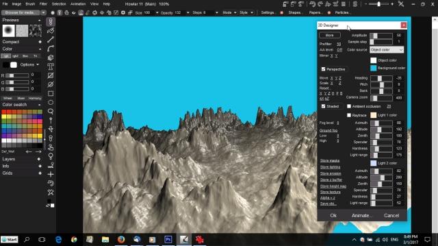 screenshot of project dogwaffle howler 3d designer