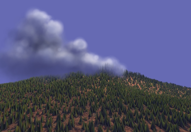 example rendering of trees in dogwaffle howler 3d designer