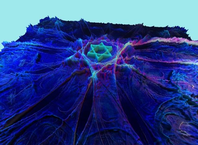 fractal image rendered as terrain