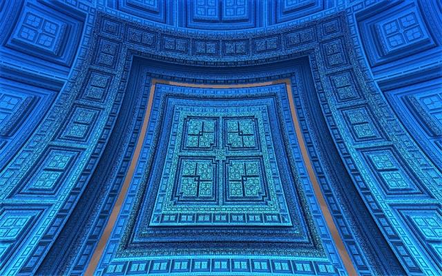 blue mandelbulb 3d fractal