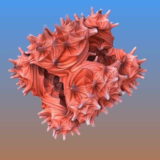 simple mandelbulb 3d cube fractal