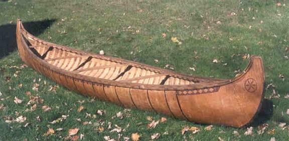 algonquian birch bark canoe